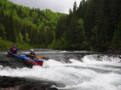 Russ and Jeremy on the Bonaventure River