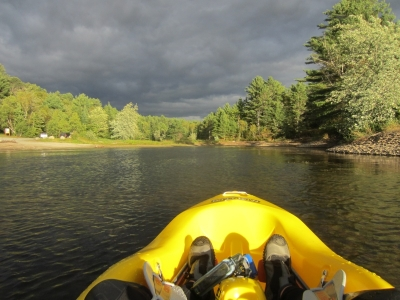"""1st trip out in my new Fluid """"Do It Now"""" kayak"""